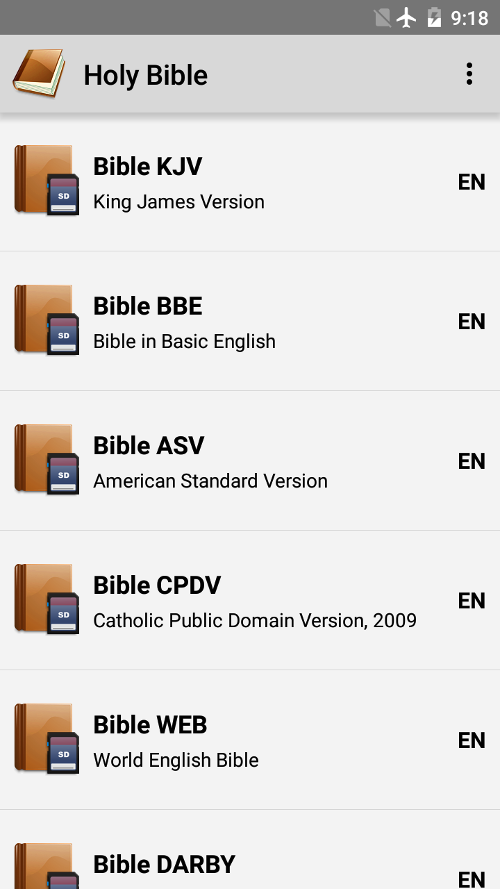 Holy Bible screenshot #1
